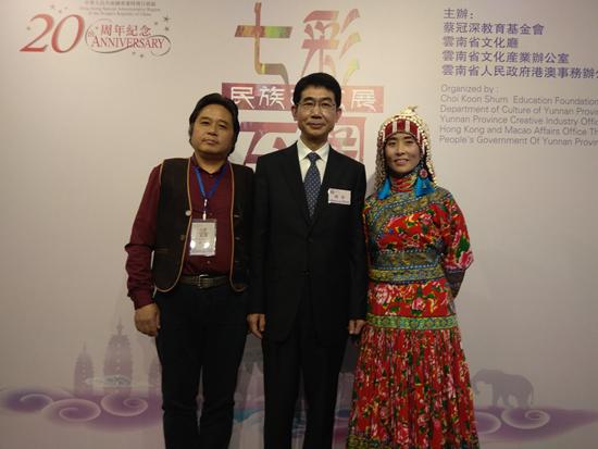 昆明狮魂文化传播有限公司设计总监高玉武(左一)