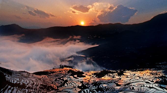 元阳梯田:云起雾浓间的神仙遗田