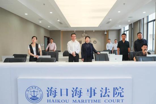 大连海事法院邓妍院长率调研组赴海口海事法院学习调研