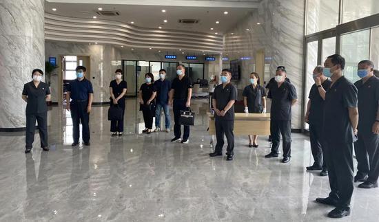 省直机关工委副书记赵满到大连海事法院视察指导机关党建工作