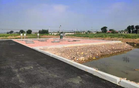 复州湾街道夏屯西山入海排污口整改后建设的污水处理站