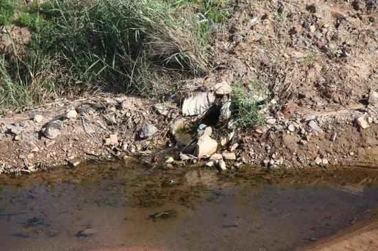 为解决金州区大魏家后石村后石河排污而建设的污水处理站