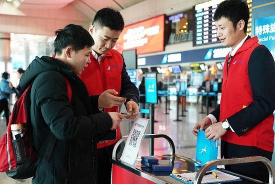 春运迎来客流高峰 国际热门航线客座率90%以上