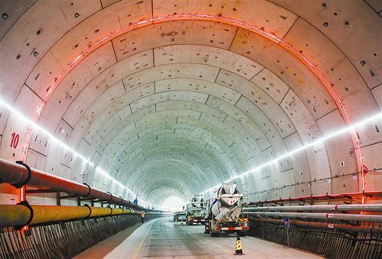 大连地铁5号线建设如火如荼。大连新闻传媒集团记者王华 摄