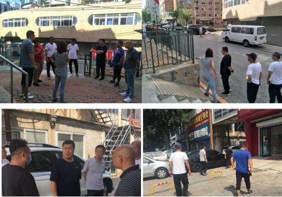 街道闫立权副主任带领城市管理办公室到香华社区、华顺社区督导创城工作