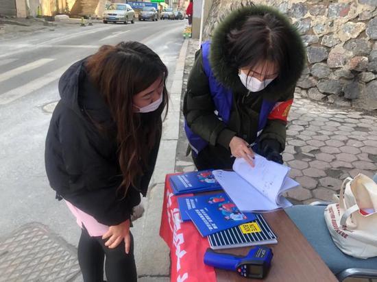 西岗区白云街道天池社区副书记、中共党员 李雅楠