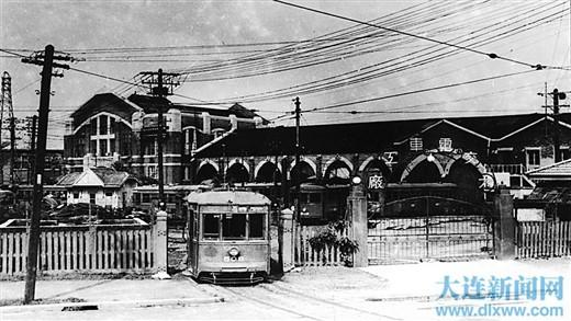 南满洲铁道株式会社的电车修理工厂。