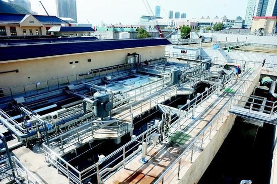 马栏河污水处理厂一期已完成提标改造任务。半岛晨报、海力网摄影记者孙振芳