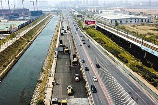 振兴路大修工程南半幅道路预计7月底竣工
