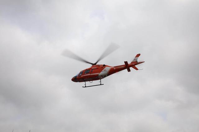 中国人保直升机为2018大连第十六届国际徒步大会保驾护航