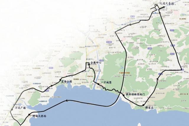 大连环路旅游西线明日开通