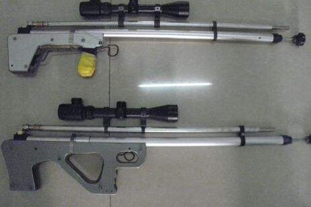 男子网购配件自制气枪相赠领导