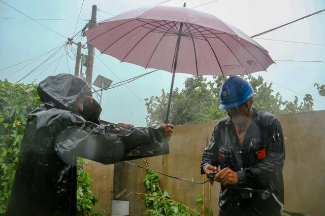 经受高温挑战 国网大连供电公司从容应对强降雨
