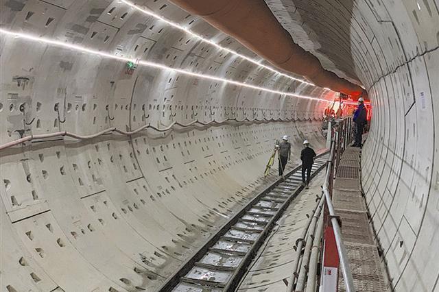 地铁5号线梭—梭区间左线盾构掘进过半
