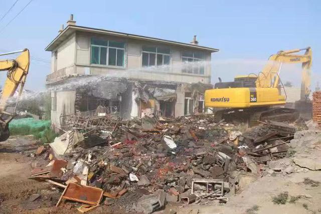 辛寨子街道机场航道下改造项目取得阶段性成果