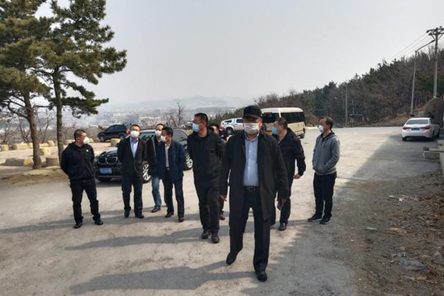大连市民政局副局长周克到辛寨子街道检查森林防火工作