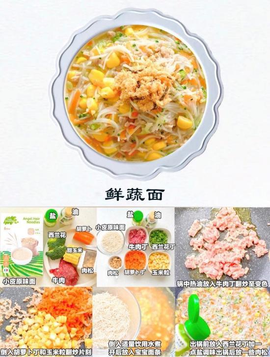 小皮辅食一周食谱:6款小皮面条做法 天天美味不重样