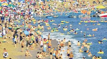 大连昨日气温达37.7℃ 创高温新纪录
