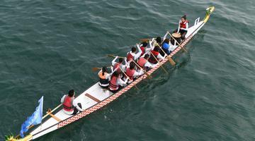 大连第三届海上运动会起航