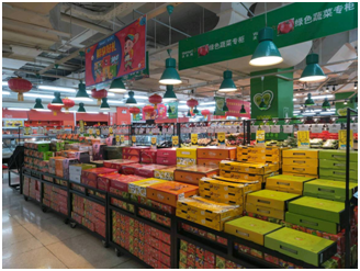全球联采的进口水果,受到顾客追捧