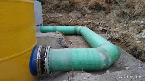 原先直排入海的污水并入管网
