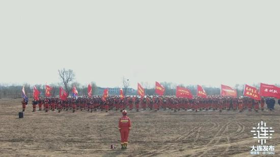 大連消防全災種實戰拉動演練有序展開