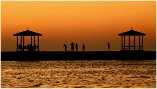 埃及海边足球。摄影:曲松(中国)