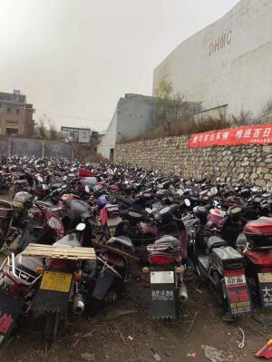 本次被处理的摩托车、电动车。