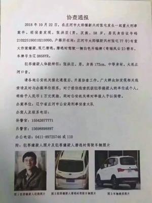 庄河警方发布协查通报。
