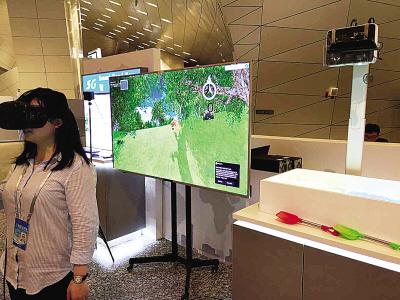 5G混合现实的智能沙箱引人关注。(图:大连市通信管理局提供)