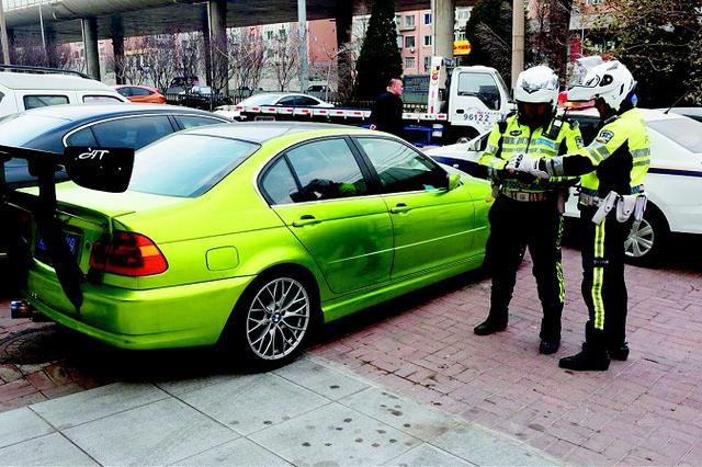 大连交警一日端掉3个非法改装机动车窝点