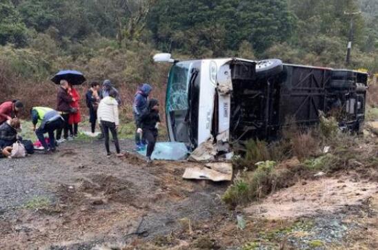 中国游客大巴在新西兰翻车:司机被控鲁莽驾驶