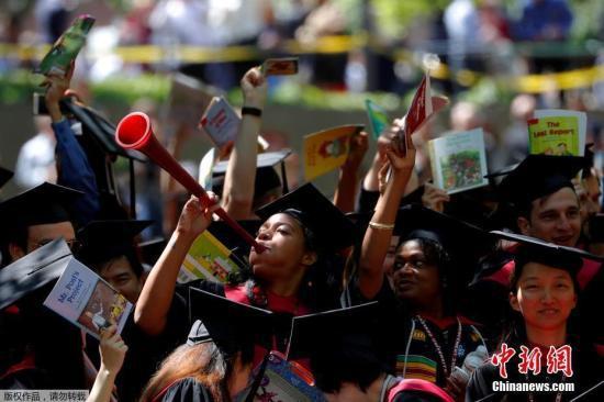资料图片:当地时间2018年5月24日,美国马萨诸塞州,哈佛大学举行毕业典礼。
