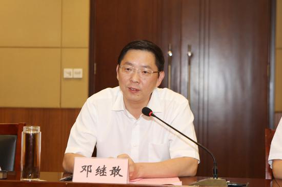 天长市委书记邓继敢致辞