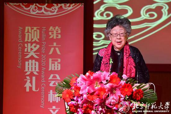 北京师范大学资深教授、中国文化国际传播研究院院长、会林文化基金创始人黄会林致辞