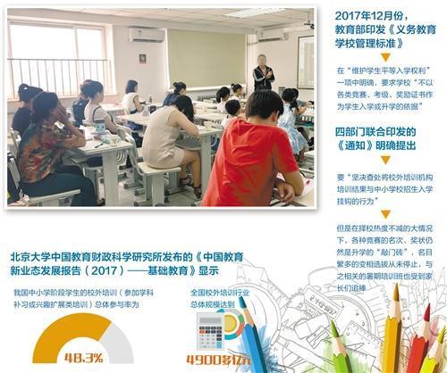 暑期培训班教室里陪读的家长们。 曾诗阳摄