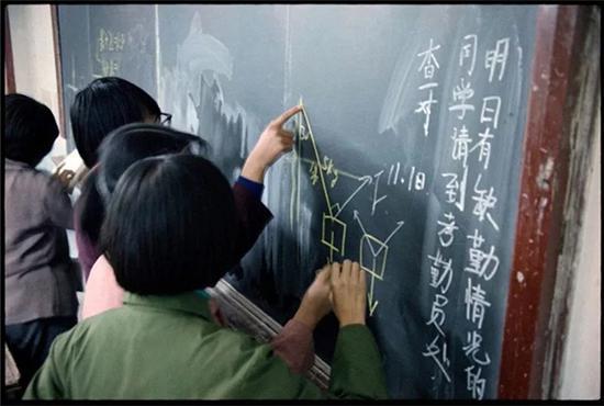 北京第一七一中学教室,1985年7月