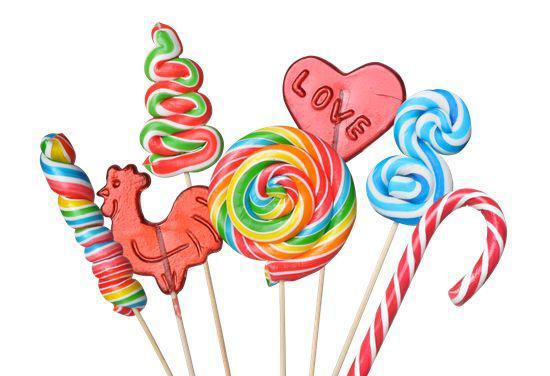 各种形状糖果简笔画