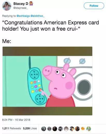"""""""尊敬的美国捷运(公司)信用卡持有人,恭喜你获得一次免费……"""""""