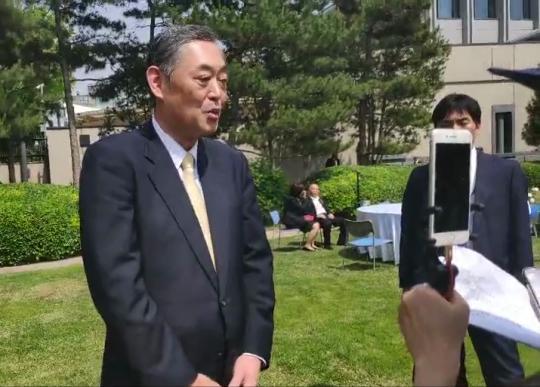 日本驻华大使横井裕:喜欢读中国古籍、看中国电影