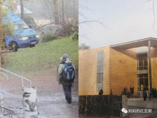 左:芬兰搭计程车上下学的孩子,右,罗亚市只有15人的迷你学校   图片来源:《芬兰教育全球第一的秘密》