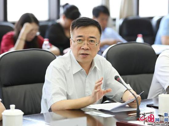 教育部教材局田慧生局长致辞。 中国网记者 马旷/摄