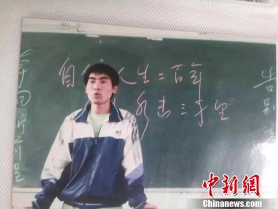 刘秀祥在课堂上发言 受访者供图