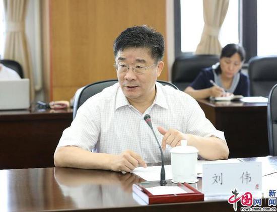 中国人民大学校长刘伟致辞。 中国网记者 马旷/摄