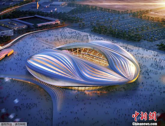2022卡塔尔世界杯球场效果图。
