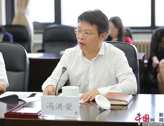 北京市教委冯洪荣副巡视员致辞。 中国网记者 马旷/摄