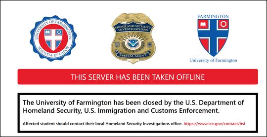 美移民局钓鱼执法办假大学 250名留学生被捕