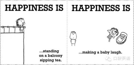 Happiness is standing on a balcony sipping tea.