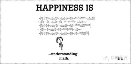 Happiness is understanding math.