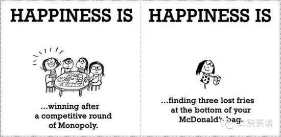 Happiness is winning after a competitive round of Monopoly.